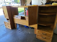Queen size Bedroom set. Headboard with storage and lights and dressers
