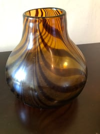 Striped 8 inch vase Gwynn Oak, 21207