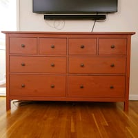 Brown Wooden 8 drawer dresser