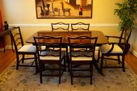 Dinning Room Table, 6 Chairs and China Cabinet SILVERSPRING