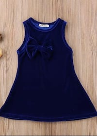 Velour Blue Dress 4T Brand new Montreal, H2P