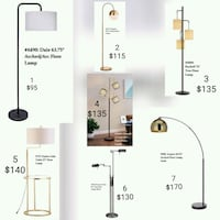 Floor Lamps - Delivery  Toronto, M1H