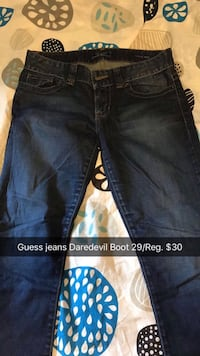blue Guess jeans