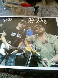 2-men band poster with autographs Lexington, 40508