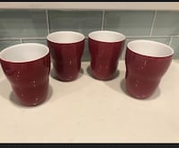 Starbucks By Aida Red Set Of 5 Double Walled Insulated Mugs 8oz 2008 Excellent Chilliwack