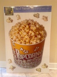 Peel & Stick Movie Popcorn Wall Art by Decal Décor