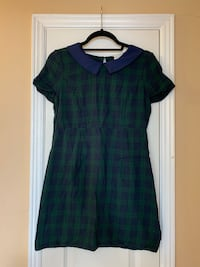 Green/blue plaid dress w/collar Toronto, M3H 5Y4