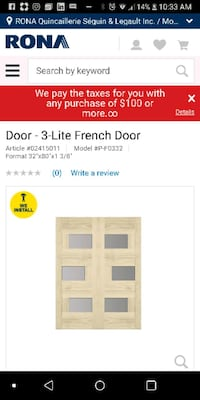 "2 Brand new doors 32×80"" (French doors) Toronto, M1B 6B4"
