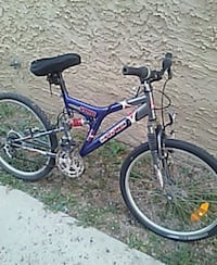 blue and white full-suspension bike Regina, S4T 2S1