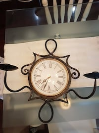 Antique candle holder and wall clock  Mississauga, L5A 3N1