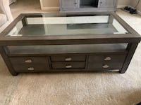 Ottoman glass coffee table with 8 drawers Odenton, 21113