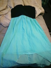 women's black and teal strapless dress Bakersfield, 93306