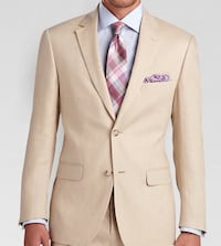 Mens Wearhouse Fitted Linen Suit (tan) Los Angeles, 90036