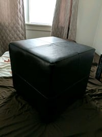 Black Faux Leather Ottoman Camp Hill, 17011