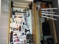 Sturdy Workbench with Vise and Sander, Tools Houston
