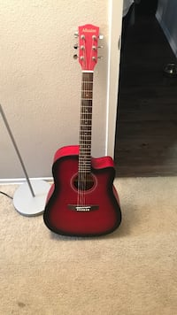 red and black acoustic guitar Long Beach, 90802