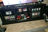 black wooden TV stand Ceres