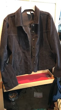 Susquehanna Trail outfitters brown corduroy button jacket Bethlehem, 18017