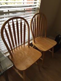 two brown wooden windsor chairs McKinney, 75070