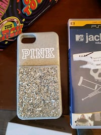 iphone 7 phone case pink brand grey glitter color