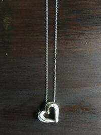 Sterling silver necklace and heart pendant Brockton, 02301