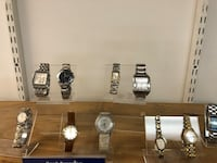 Silver-colored watch each sold separate