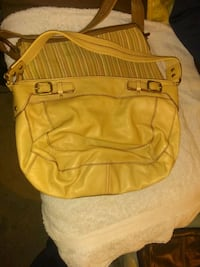 yellow and black leather backpack Richmond, 47374