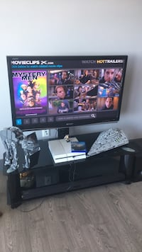 "42"" sharp aquos led tv and glass tv stand  Halifax, B3Z 1H3"