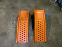 two brown wooden car ramps Calgary, T2A 5P4