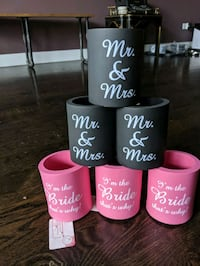bride bachelorette wedding koozie Chicago, 60618