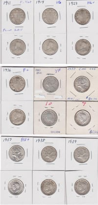 Canadian 25 Cent Coin Collection