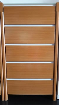 Solid Chest Of Drawer With Tempere Glass Top Singapore, 680152