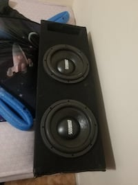 black and gray subwoofer speaker New York, 10462
