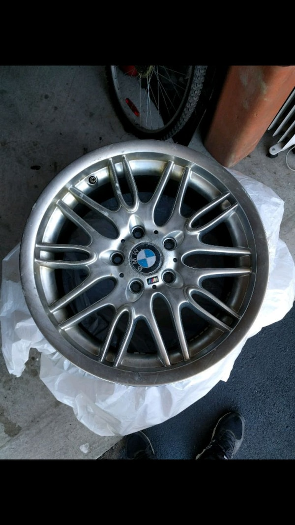 4 BMW /// M Rims and tires.