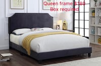 Brand new queen charcoal velvet bed frame with adjustable headboard 多伦多, M1T 3W6