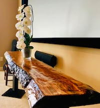 BEAUTIFUL Live edge custom cherry wood console/couch table!