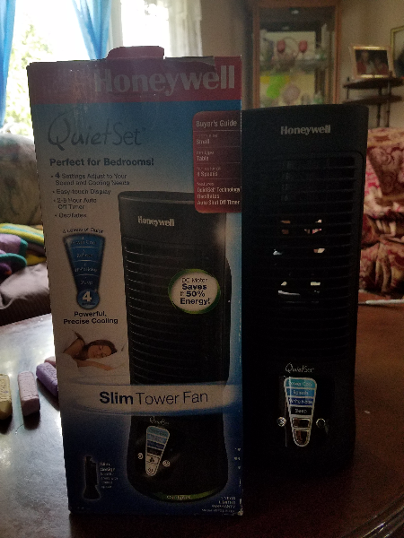 Honeywell Quiet Set bedroom Slim tower fan with box