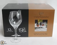 Chef & Sommelier 10.5 oz Sensation Wine Glasses by Arc Card - 12 Edmonton