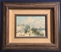 Framed original beach painting Corpus Christi, 78412