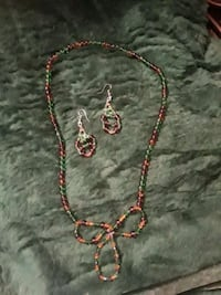 SWAROVSKI CRYSTAL AND TOPAZ NECKLACE AND EARRINGS. Hephzibah, 30815