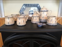 white and blue ceramic dinnerware set Edinburg, 22824