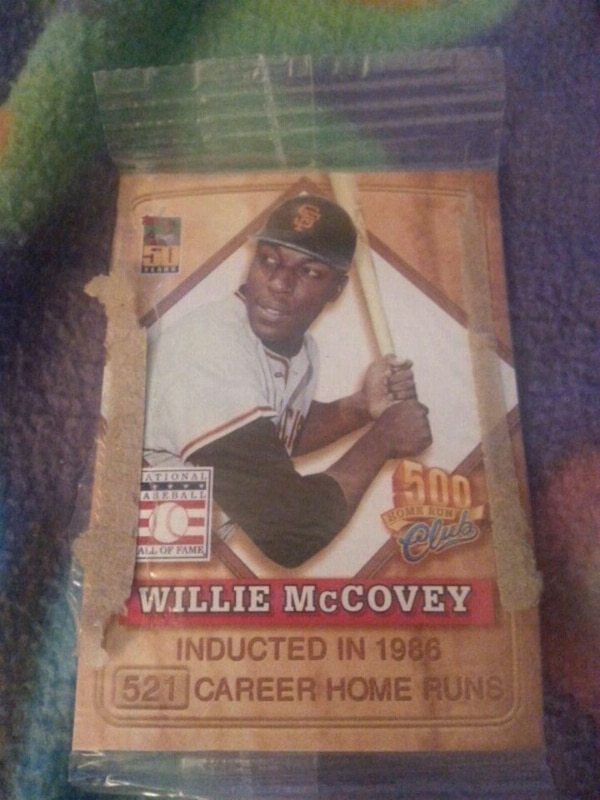 500Club Willie McCovey trading card