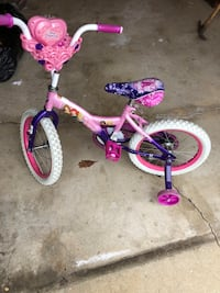 Toddler's pink and purple bicycle with training wheels Woodridge, 60517