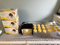 Medela Pump In Style Advanced with 4 unopened kits and 18 unopened bottles 45 km