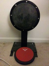 Gibraltar practice bass drum and Vater practice pad