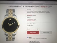 Movado Watch Men's Monmouth Junction, 08852