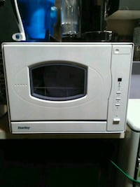 white and black microwave oven Vancouver, V6Z 1B3