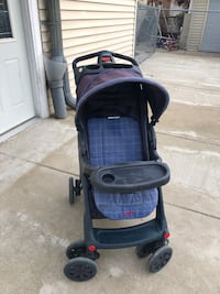 Baby's black and gray stroller Niles, 60714