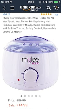 Wax warmer for hair removal