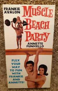 vhs Muscle Beach Party VHS Frankie Avalon Annette Funicello Orion EUC  (ref # bx2/eb) Newmarket